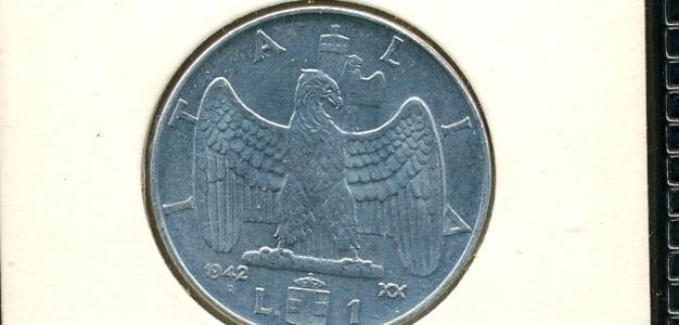 1 Lira Nazione: Italia Anno: 1942 Anno fascista XX – Magnetica